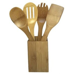 Bamboo Canister Set: Includes 4 Non-Imprinted Utensils
